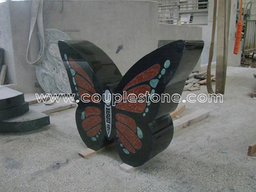 Butterfly shape headstone